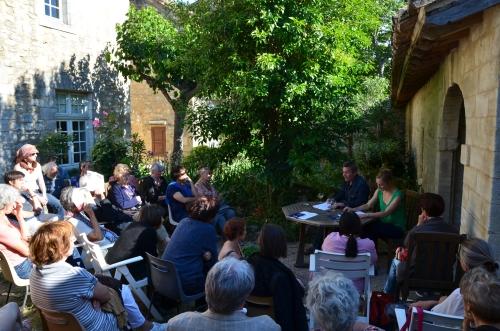Lecture à la chartreuse (CNES) / David Léon - Hélène Soulié. 31 mai 2014